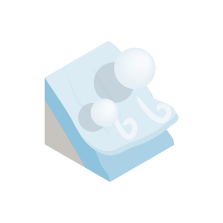 Photo for Avalanche icon, isometric 3d style - Royalty Free Image