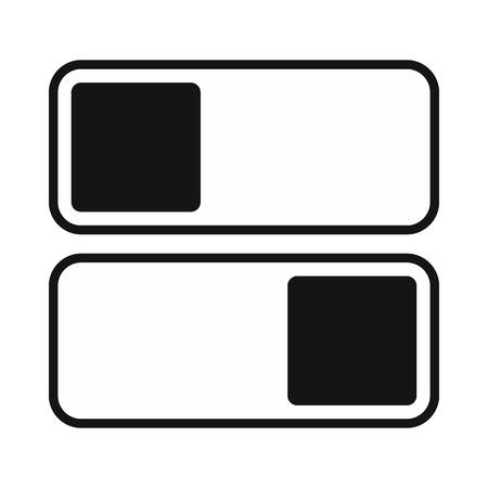 Photo pour Toggle switch on, off position icon, simple style - image libre de droit