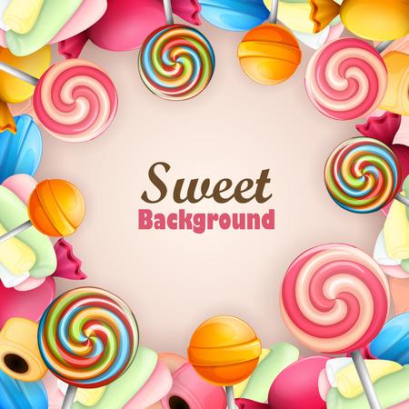 Ilustración de Abstract background with sweets - Imagen libre de derechos