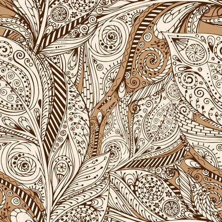Illustration pour Seamless flower retro background in vector. - image libre de droit