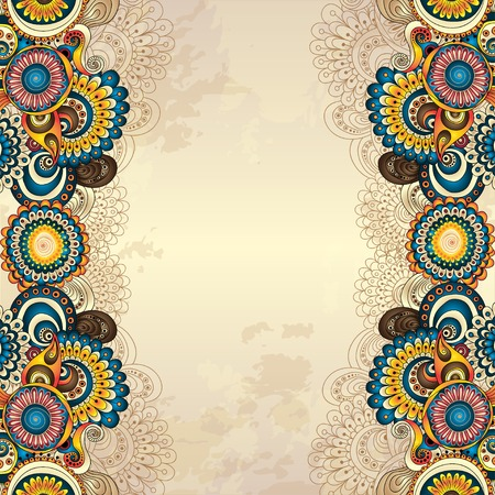 Illustration for Vector abstract floral decorative background. - Royalty Free Image