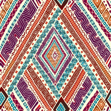 Illustration for Seamless pattern with geometric elements. - Royalty Free Image