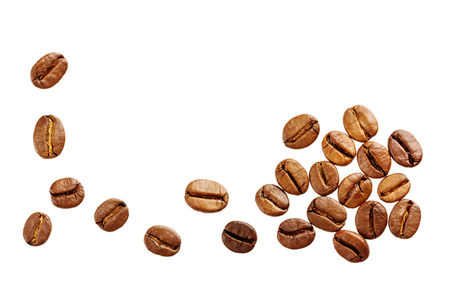 Foto de coffee beans isolated on white background - Imagen libre de derechos