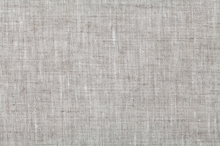 Foto de Fabric background in neutral grey color, linen texture, top view - Imagen libre de derechos
