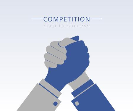 Illustration pour Conceptual Illustration of competition between two business mans - image libre de droit