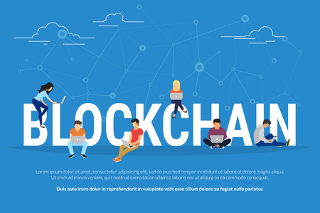 Illustration for Blockchain concept illustration - Royalty Free Image