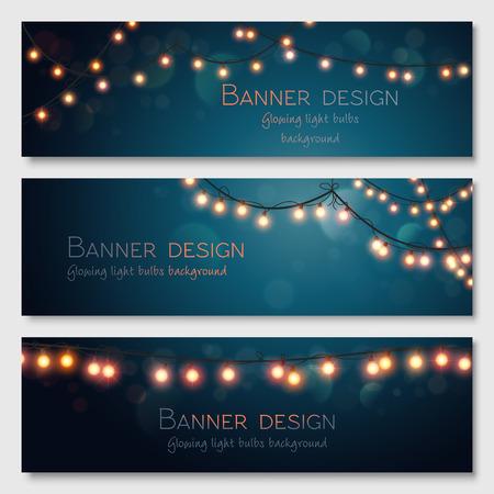 Illustration pour Glowing light bulbs design.  - image libre de droit