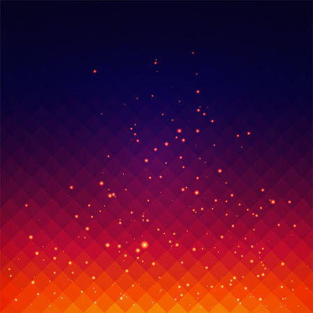 Illustration for Abstract background with fire sparks effect - Royalty Free Image