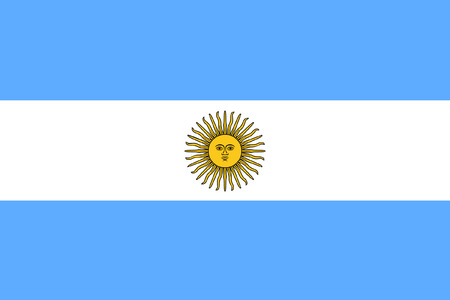Illustration pour original and simple Argentina flag isolated vector in official colors and Proportion Correctly - image libre de droit