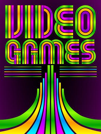 Illustration pour Video Games  - eighties video games style - image libre de droit