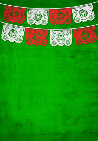 Photo for Traditional Mexican paper decoration background with old paper texture - Royalty Free Image