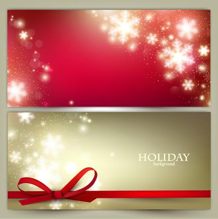 Illustration pour Set of Elegant Christmas banners with snowflakes. Vector illustration - image libre de droit