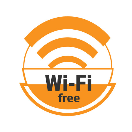 The symbol of the free zone wifi
