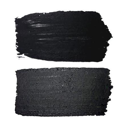 Ilustración de Black Textured brush stroke isolated on white. Hand drawn ink strokes and paint textures design elements. Grungy sketchy lines set. Vector Illustration EPS 10 file. - Imagen libre de derechos