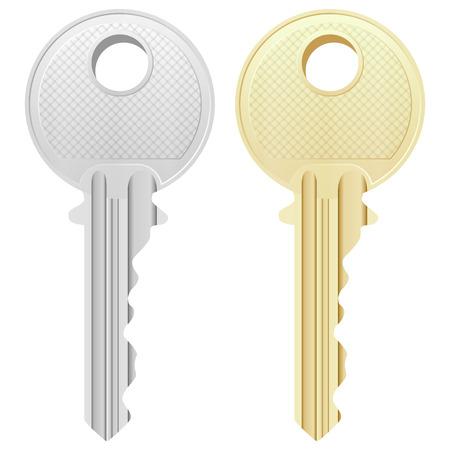 Ilustración de Key on a white background. - Imagen libre de derechos