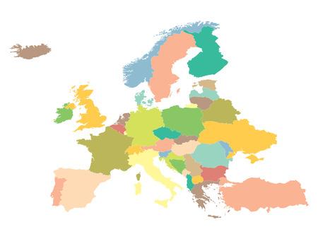 Ilustración de political map Europe on a white background. - Imagen libre de derechos