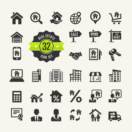 Illustration pour Set web icons  Real Estate, property  - image libre de droit