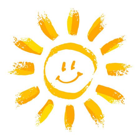 Illustrazione per Smiling sun - Immagini Royalty Free