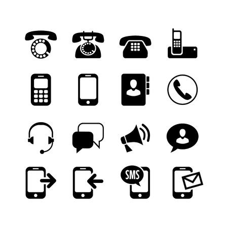 Illustration pour Web icons set   ommunication, call, phone - image libre de droit