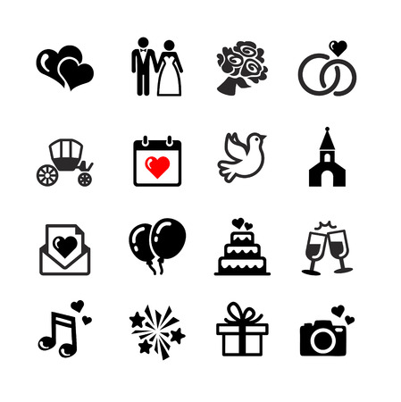 Photo pour Web icons set - Wedding, marriage, bridal - image libre de droit