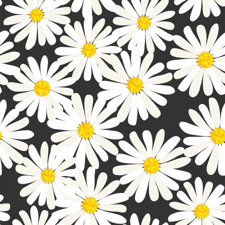 Photo pour Seamless daisies pattern - image libre de droit