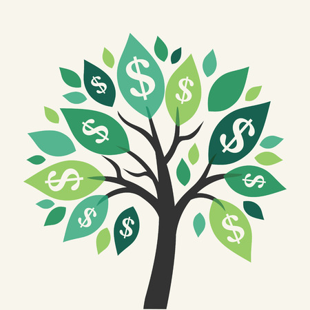 Illustration pour Vector money tree - symbol of successful business - image libre de droit