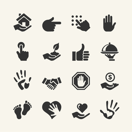 Illustration pour Web icon set - Hand - image libre de droit