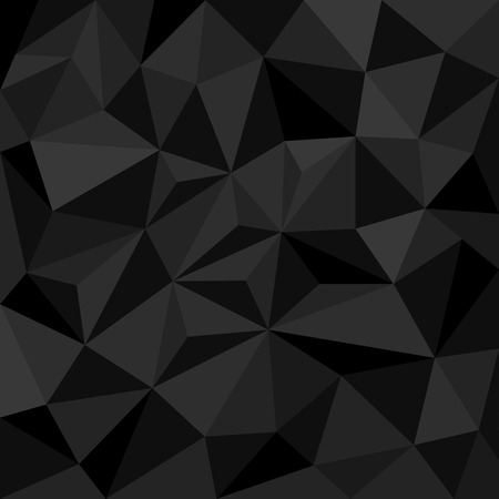 Illustration for Abstract black background with triangles - Royalty Free Image