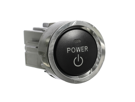 Photo pour Car power engine start stop switch isolated on white background - image libre de droit