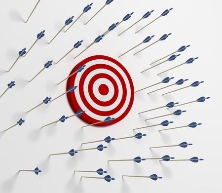 Photo pour Tens of arrows that have missing  the target - image libre de droit