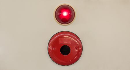 Foto de Industry Fire alarm system on a gray wall - Imagen libre de derechos