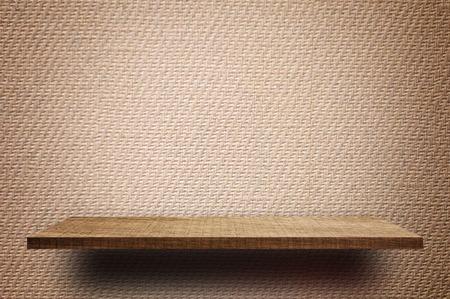 Photo pour Empty Brown display wooden shelf counter brown Vintage paper texture - image libre de droit