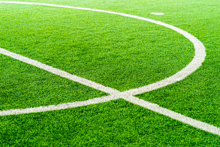 Photo for Curve Line of an indoor football soccer training field - Royalty Free Image