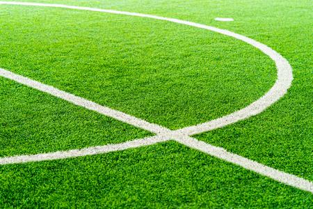 Photo pour Curve Line of an indoor football soccer training field - image libre de droit