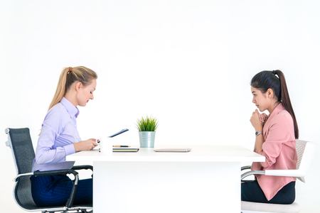 Photo for Woman during job interview with female boss - Royalty Free Image