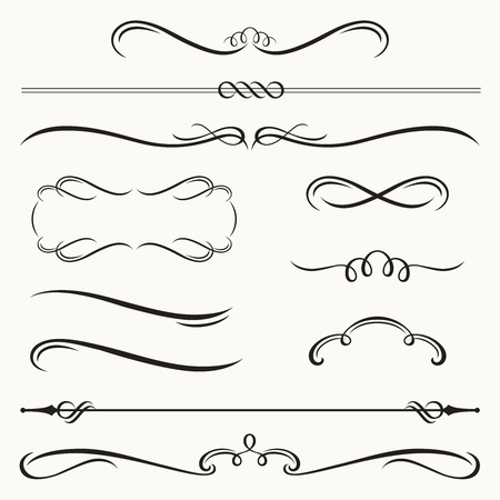 Ilustración de illustration of decorative border and frame set  - Imagen libre de derechos