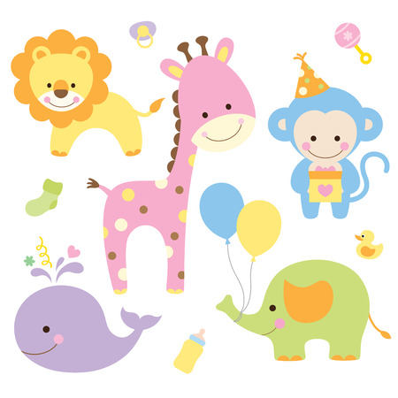 Illustration for Vector illustration of animals in party theme  - Royalty Free Image