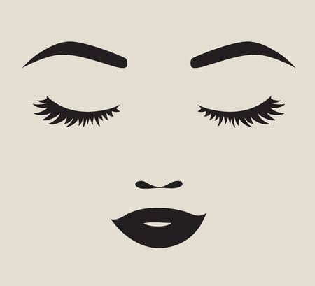 Illustration for Woman face silhouette illustration - Royalty Free Image