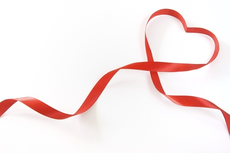 Photo for red heart ribbon - Royalty Free Image