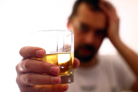 Foto de Alcohol addiction - social problem - Imagen libre de derechos