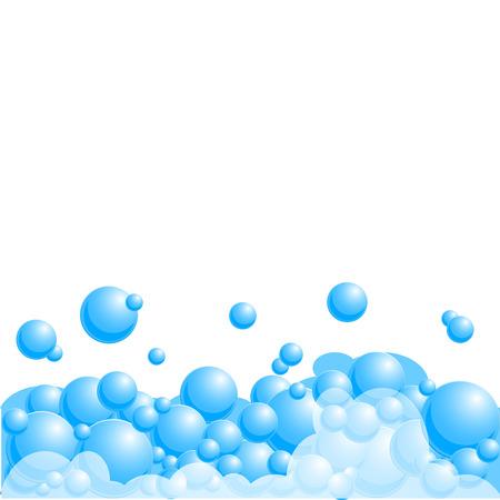 Illustration pour Background with soap bubbles. Vector illustration. - image libre de droit