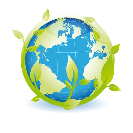 Green globe you can use on earth day