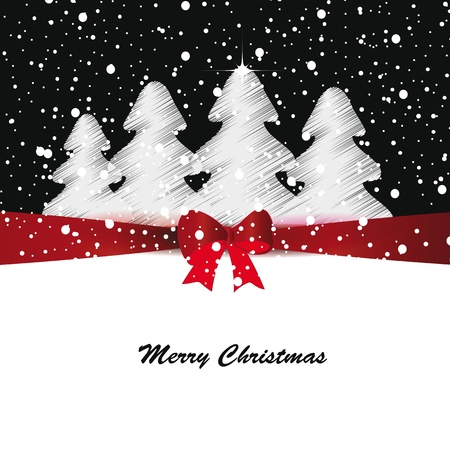 Elegant and cute Merry Christmas and New Year card