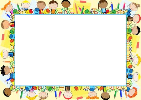 Ilustración de Colored frame for the school year - Imagen libre de derechos