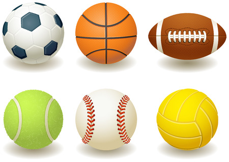 Vector illustration - Balls for team sports