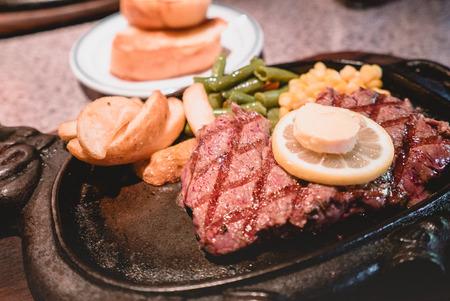 Foto de Okinawa steak closeup photo - Imagen libre de derechos
