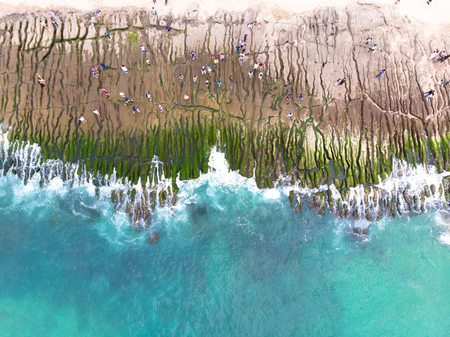 Foto de Laomei Green Reef Aerial View - Taiwan North Coast seasonal features, shot in Shimen District, New Taipei, Taiwan. - Imagen libre de derechos