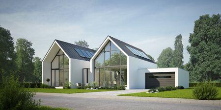Photo pour Modern semi-detached house - image libre de droit