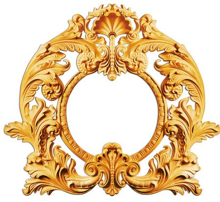 Foto de picture  golden antique frames - Imagen libre de derechos