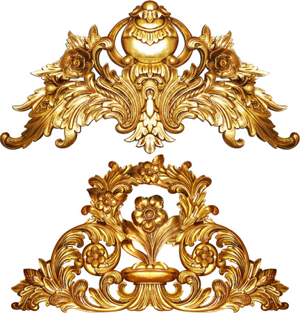 Foto de golden baroque isolated  on white background - Imagen libre de derechos
